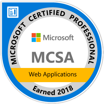 Microsoft Certified Solutions Associate (MCSA): Web Applications